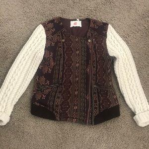 Anthropologie Moto style sweater